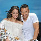 Eva González y Jesús Vázquez en 'Supervivientes 2010'