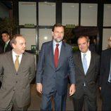 Mariano Rajoy junto a directivos de TVE