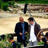Jordi Rebellón en Ourense rodando en 'Hospital Central'