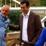 Jordi Rebellón en Ourense rodando una de las tramas de 'Hospital Central'