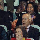 La Reina Sofía siguió el partido Alemania - España con interés