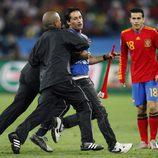 Un espontáneo se cuela en la Semifinal del Mundial 2010