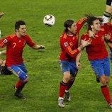 La Selección Española celebra llegar a la final del Mundial