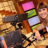 Sandra Daviú, con una cámara