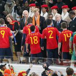 La Selección Española, recibida por las autoridades