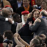 La Reina felicita a Vicente del Bosque