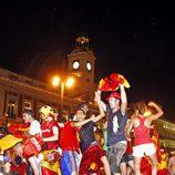Celebrando el Mundial en la Puerta del Sol