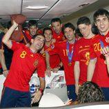 La Selección Española vuelve a casa