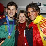 Íker Casillas, Letizia Ortiz y Rafa Nadal