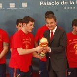 Zapatero, Íker Casillas y la Copa del Mundo