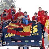 La Selección Española se pasea por Madrid