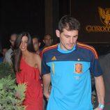 Íker Casillas y Sara Carbonero, de la mano