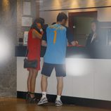 Íker Casillas y Sara Carbonero en un hotel de Madrid