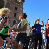 Ex-concursantes de 'Fama' en Las Ventas de Madrid