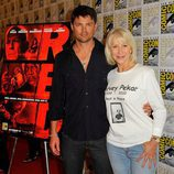 Karl Urban y Helen Mirren