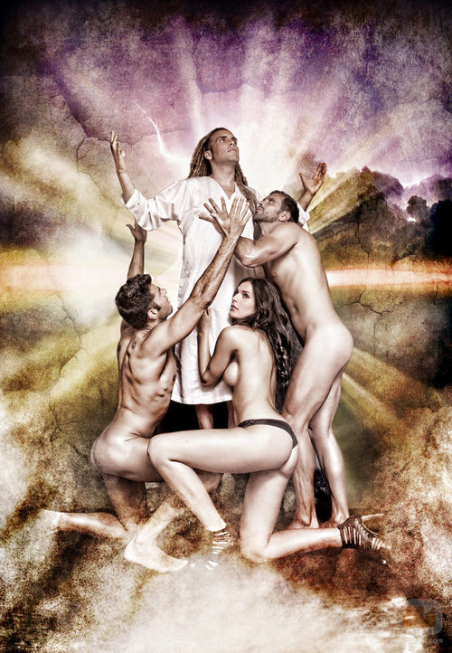 Michel, Verónica y Roberto adoran desnudos al Dios Torito