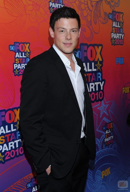 Cory Monteith en la fiesta All Star de FOX