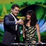 Joshua Jackson y Lea Michele