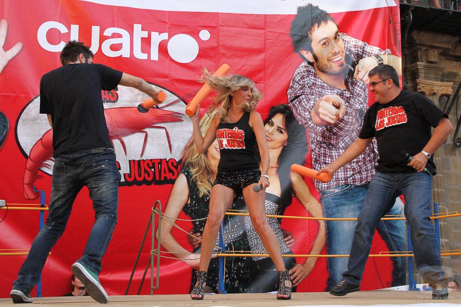 Dani Martínez, Anna Simón y Florentino Fernández en Astorga