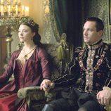 Enrique VIII y Ana Bolena en el trono