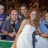 María Castro con fotógrafos