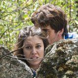 Julia e Iván se asustan en 'El internado'
