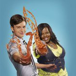 Chris Colfer y Amber Riley de 'Glee'