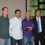 Jacobo Vega, Marc Gené, Antonio Lobato y Carlos Sainz