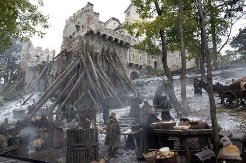 El palacio de Waleran en construcción