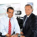 Los periodistas Pedro Piqueras y J.J. Santos