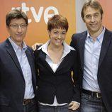 Juan Carlos Rivero, Marta Solano y Julen Lopetegui