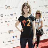 Emily Deschanel en 'Stand Up to Cancer'