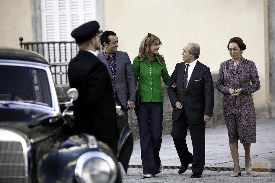 Carmen Martínez-Bordiú con sus abuelos Franco y Carmen Polo
