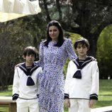 Carmen Martínez-Bordiú en la comunión de sus hijos