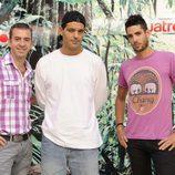 Nacho Medina, Frank Cuesta y Santiago Trancho