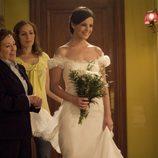 Marta Torné vestida de novia