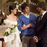 Iván, María y Fermín en la boda de Fermín y María