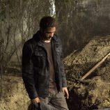 Garrido, dentro de la tumba
