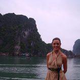Raquel en la Bahía de Along (Vietnam)