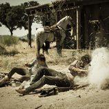 Los hermanos Bravo en un tiroteo