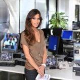 Sara Carbonero en la redacción de 'Informativos Telecinco'