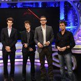Andrew Garfield, Jesse Eisenberg, Justin Timberlake y Pablo Motos