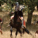 Sandro y Paulo luchan contra un romano