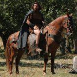 El actor Hovik con su caballo