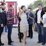 Selena Gomez, en el exterior del plató de 'Fama'