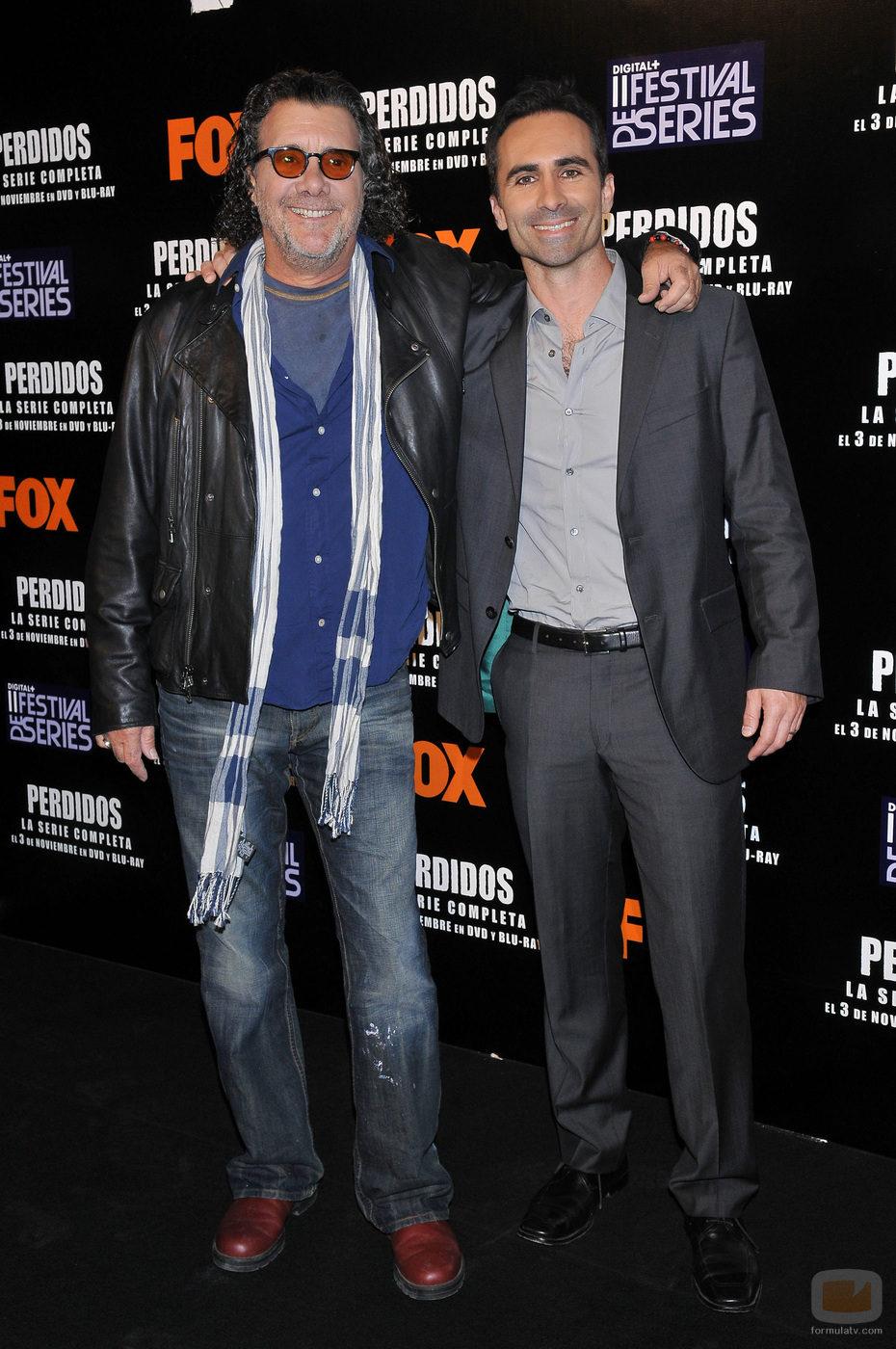 Jack Bender y Nestor Carbonell en Madrid