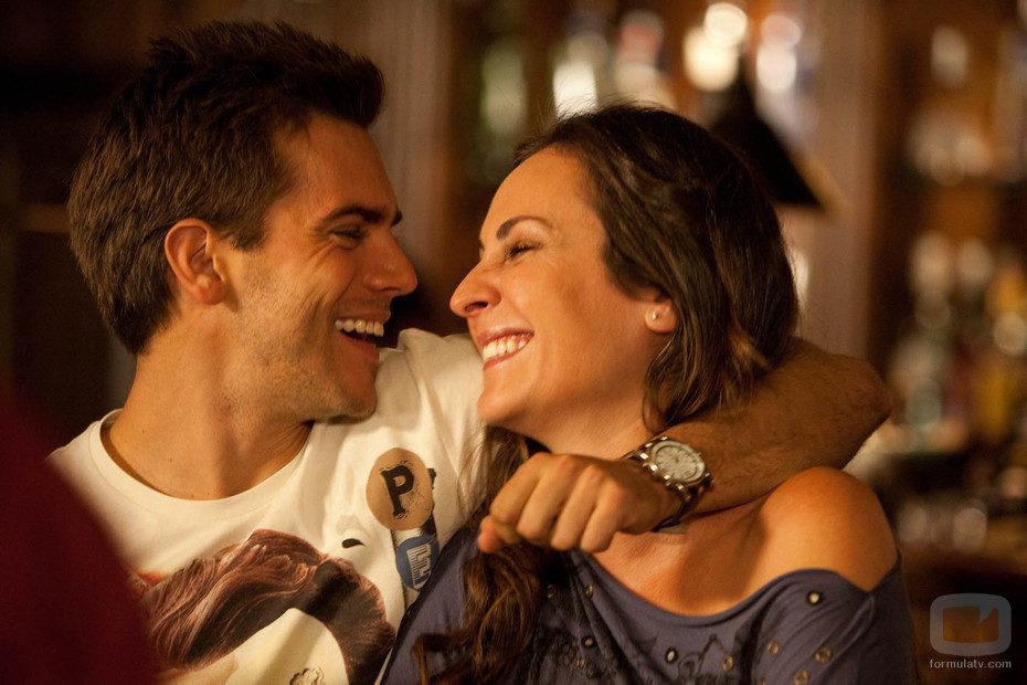 Marc Clotet y Ana Milán sonríen