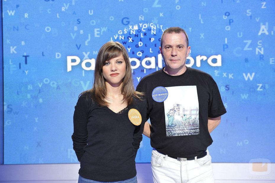 José Manuel Lúcia y Laura Gonzalo en 'Pasapalabra'
