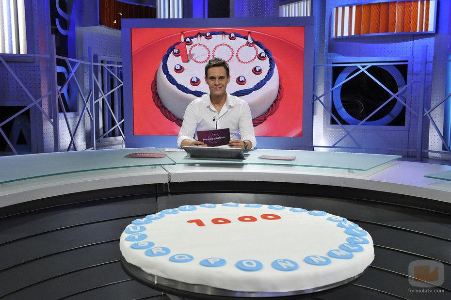 Christian Gálvez presenta el programa 1.000 de 'Pasapalabra'