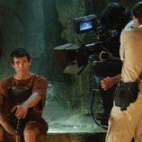 Juan José Ballesta durante el rodaje de 'La liberación de los esclavos'